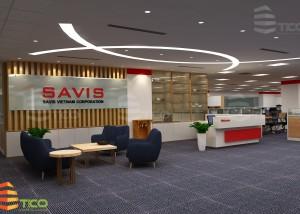 thiết kế văn phòng công ty savis