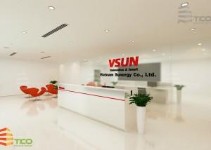 thiết kế nội thất nhà máy Vsun tại bắc giang